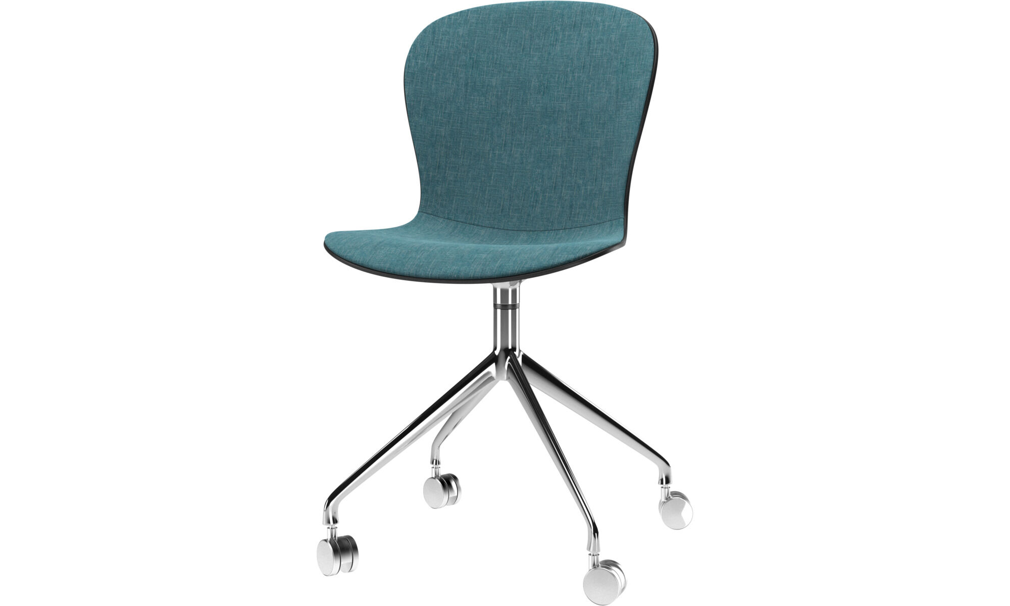 blue office chair what is a shower modern chairs quality design from boconcept dining adelaide with swivel function and wheels fabric
