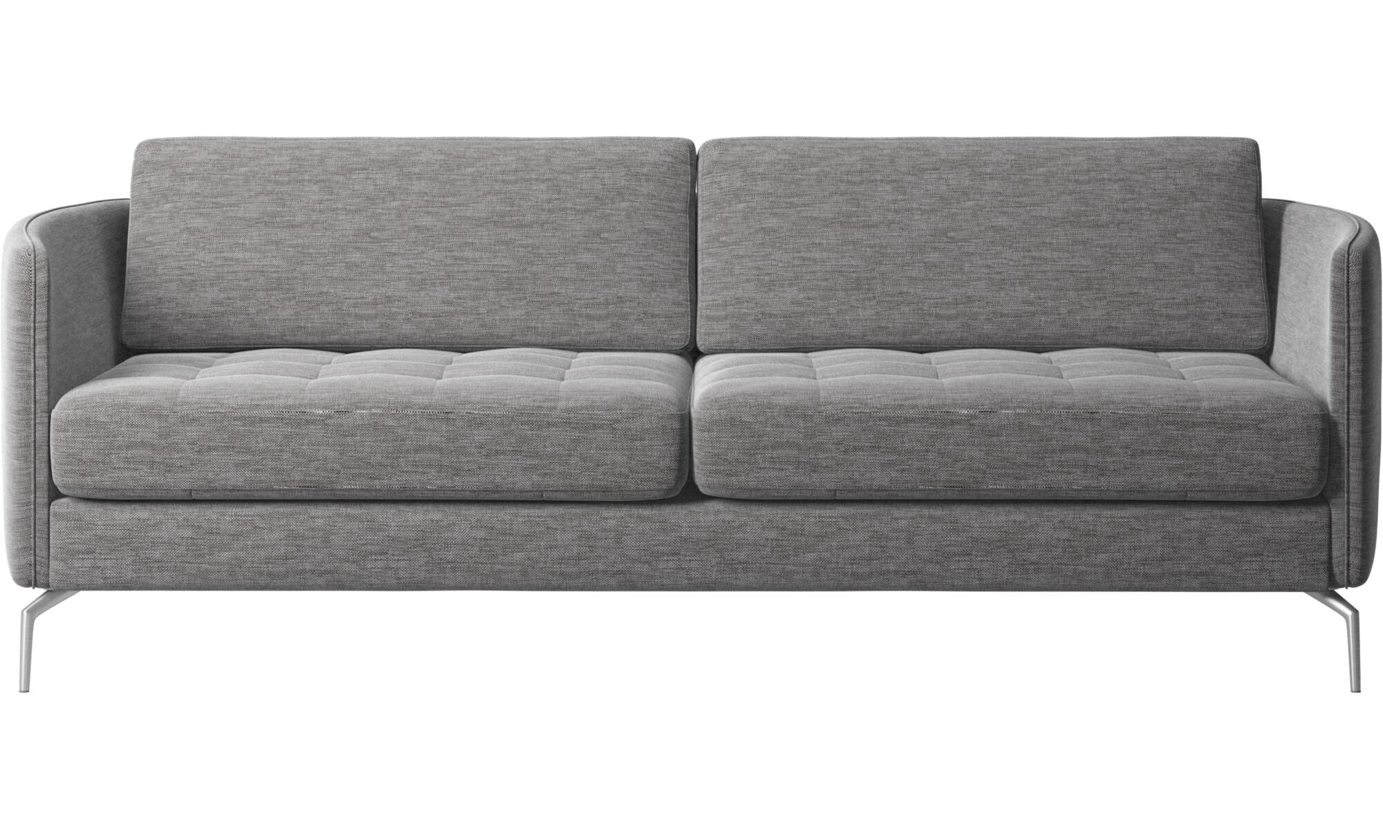 fundas para sofas en lugo white bonded leather sectional sofa de la coleccion boconcept 2 plazas y media osaka asiento capitone gris