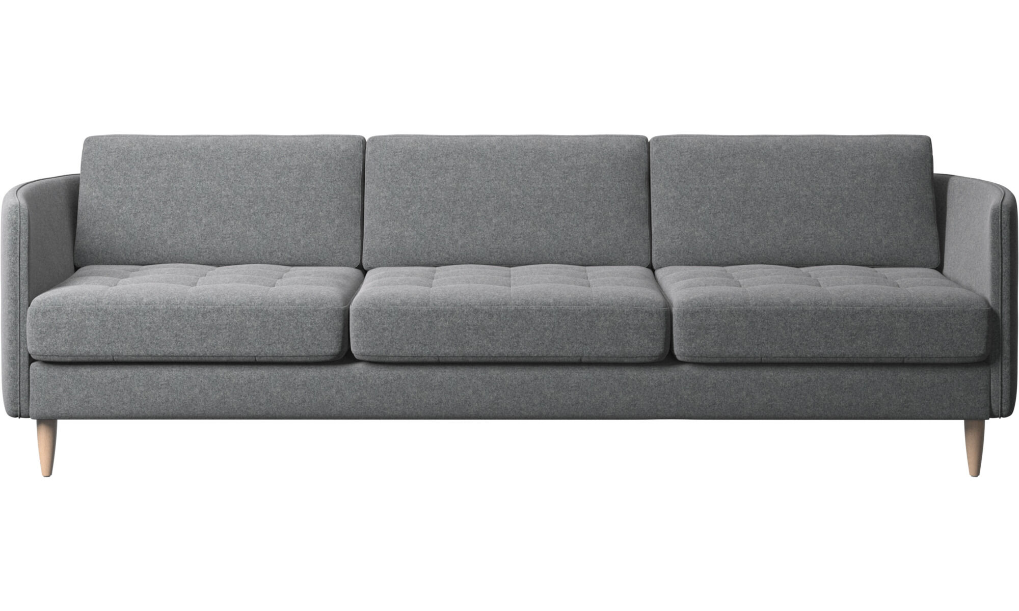 black 3 seater sofa and cuddle chair versailles sofabord modern sofas contemporary design from boconcept osaka tufted seat grey fabric