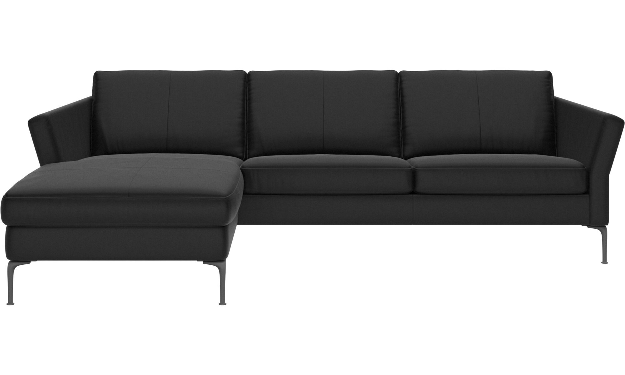 black leather sofa living room sets designs sofas contemporary design from boconcept chaise longue marseille with resting unit