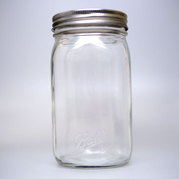 Ball Smooth-sided Wide Mouth Quart 32 Oz. Glass Mason Jars 12 Count