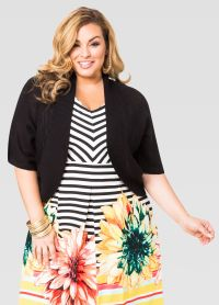 Shawl Collar Shrug-Plus Size Cardigan-Ashley Stewart-042-2687X