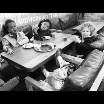 Family fun at Pret-a-Manger