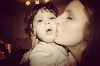 Mummy kissing Lula