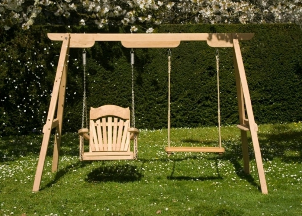 Wooden Garden Swings For Children And Adults