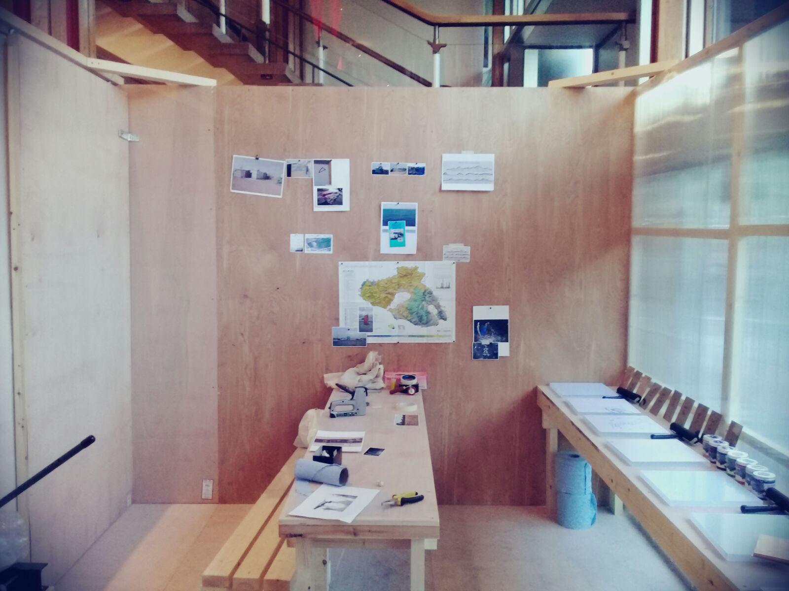 Design and build of a temporary print studio