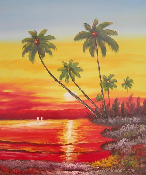 Lukisan Pemandangan Pantai : lukisan, pemandangan, pantai, Lukisan, Pemandangan, Situsguru's