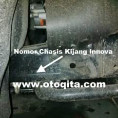 Posisi Nomor Mesin Grand New Avanza Spesifikasi Agya Trd Letak Dan Rangka Toyota Kijang Innova Situs Oto Diesel Bensin