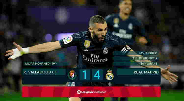 REAL VALLADOLID DIBANTAI 1-4 ATAS REAL MADRID