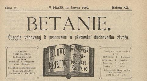 Betanie 1902 č. 17