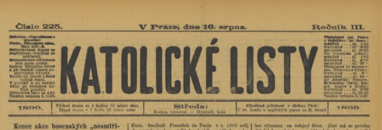 Střípky z historie: Hanebný článek o baptistickém pohřbu ve Vršovicích 1899
