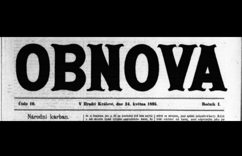Varující článek před kolportací Posla pokoje 1895