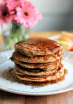 Apple Cide Maple Sausage Cornmeal Pancakes