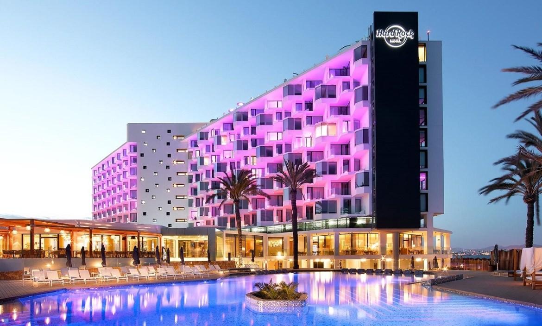 piscina noche hard rock hotel ibiza