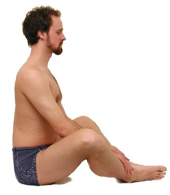 Posición inicio de la postura de la ostra