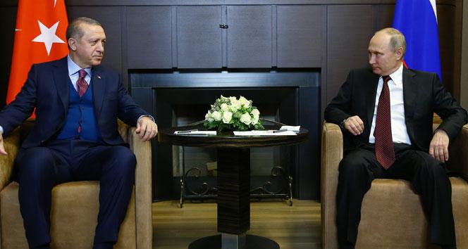 Cumhurbaşkanı Erdoğan, Rus mevkidaşı Putin ile görüştü