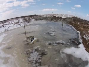 Озеро із фільтратом в Тарасівці