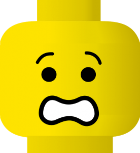 Frightened lego character