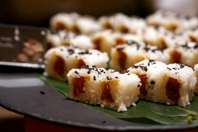 Black Italian Truffles at Conrad Centennial Singapore Oscar's - Spicy Tuna Maki with Black Truffle Confit