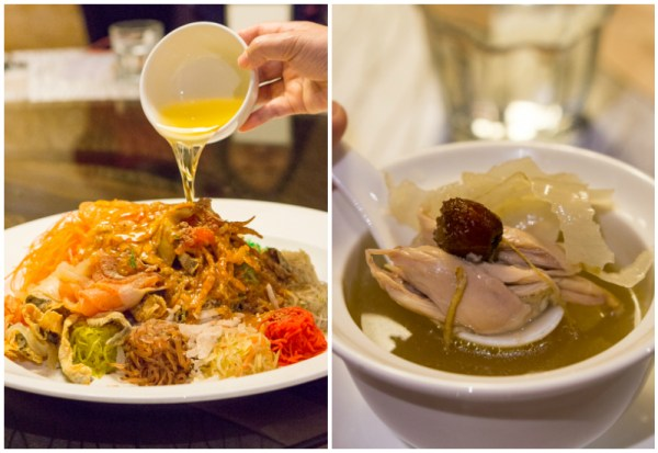 Chinese New Year 2017 at Silk Road, Amara Singapore - Prosperity Eight Treasures Yusheng and Double Boiled Chicken Soup with Ginseng & Gastrodia Root