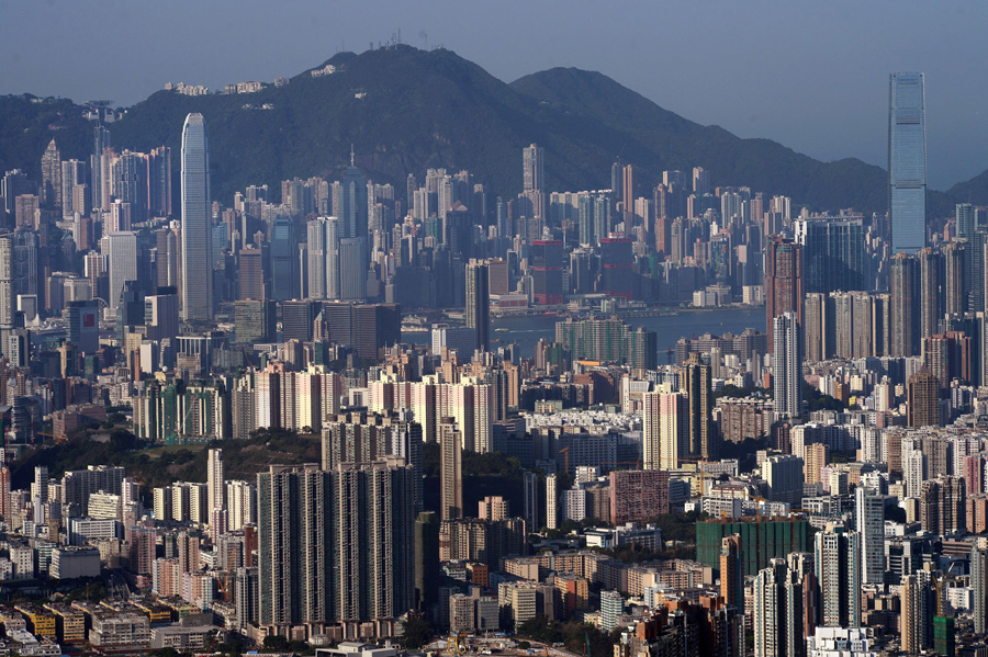 A general view shows commercial and residential buildings in Hong Kong on April 14, 2015. AFP PHOTO / DALE DE LA REY (Photo credit should read DALE de la REY/AFP/Getty Images)