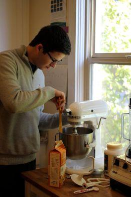 Skyler making whipped cream