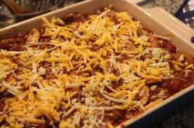 Simple, delicious lasagna: Layering the lasagna