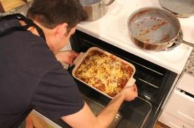 Simple, delicious lasagna: Lasagna in the oven