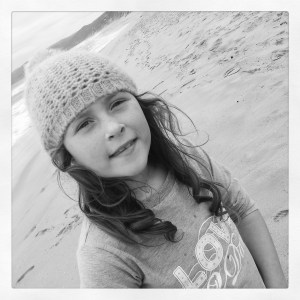 my youngest, Dacey, loves the beach