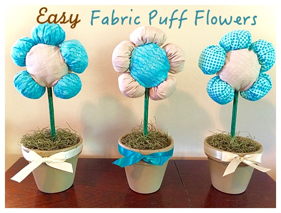 Easy Fabric Puff Flowers