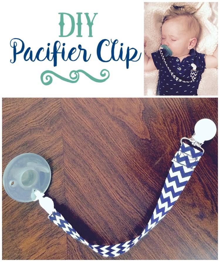 DIY Pacifier Clip
