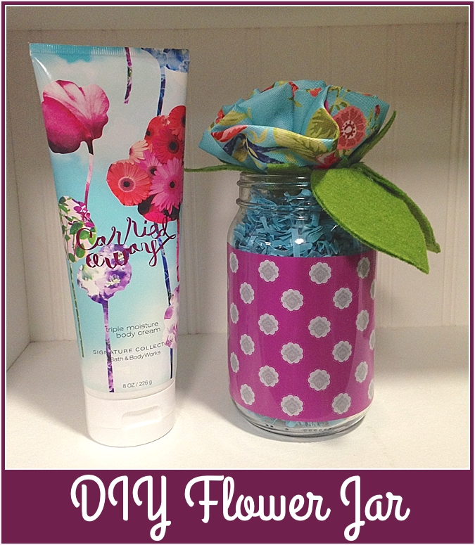 diy flower jar