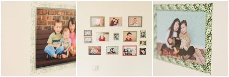 Washi Tape Wall Frames