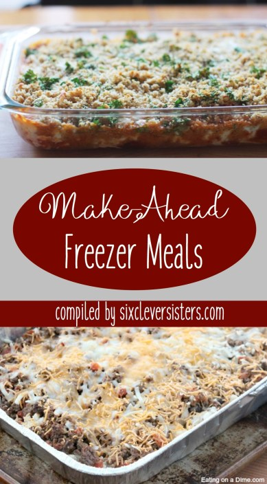 Make-Ahead Freezer Meals