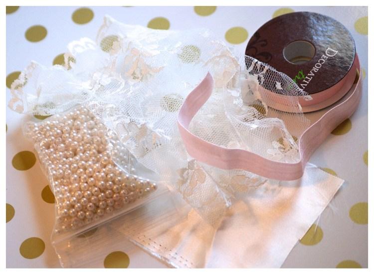 baby headband tutorial DIY easy rosette pearl