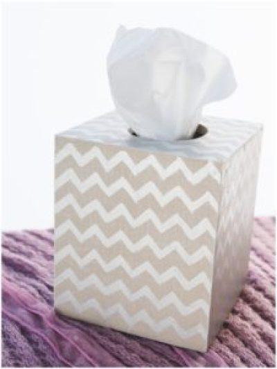 Easy DIY Tissue Box Cover #diy#tissuebox #gift #homedecor