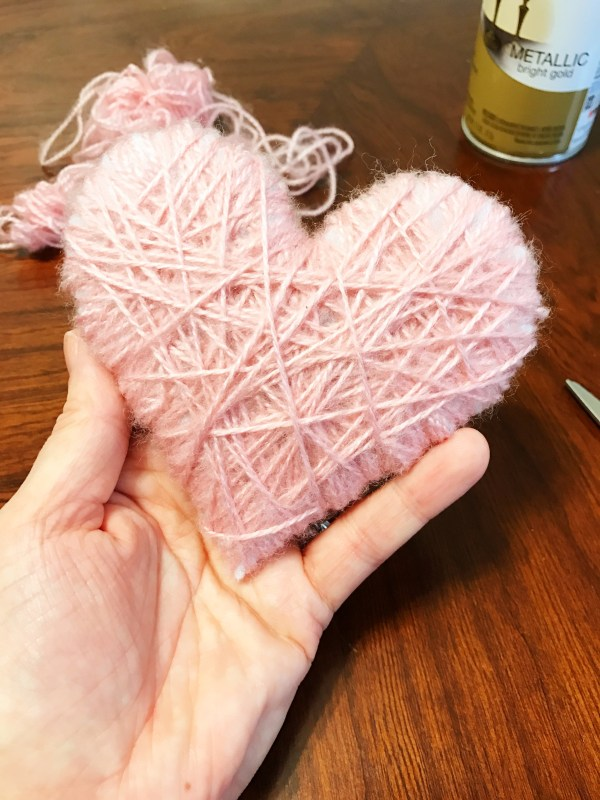 One Hour Yarn Wrapped Heart Decoration