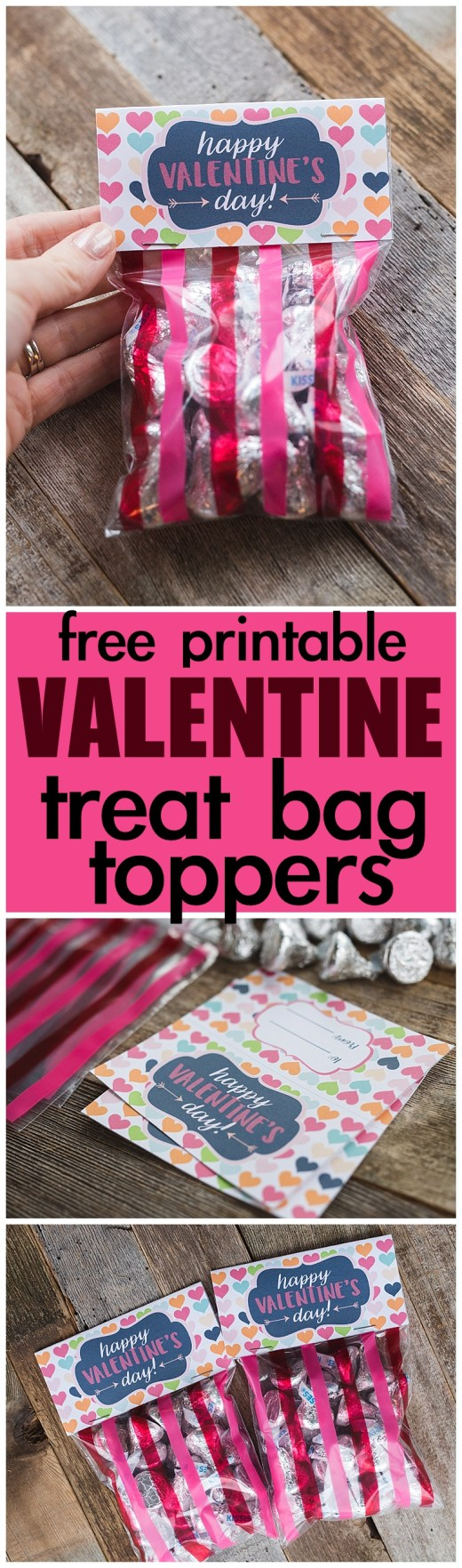 Free Printable Valentine's Day Treat Bag Toppers
