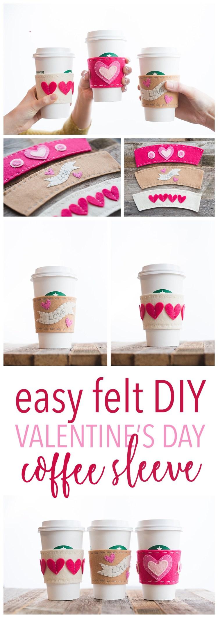 valentines day gift idea cup sleeve heart coffee