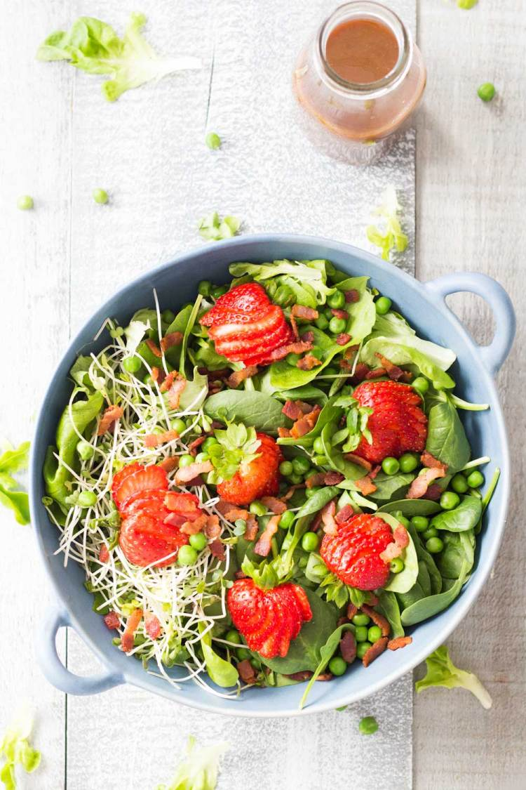 strawberry bacon spring salad