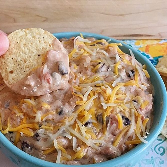 Crock Pot Black Bean and Corn Taco Dip   appetizer   taco dip   crockpot   recipe   Try this flavor packed appetizer, recipe from Six Clever Sisters.