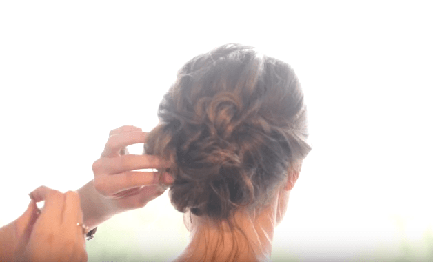 Hair Tutorial | Romantic Updo | Wedding Hair | Easy Updo | Curly Updo | Romantic Updo Tutorial | This hair style is perfect for a special night out, a wedding, or Easter Sunday! It's a pretty and chic updo that's all about the curls and twists! Subscribe to SixCleverSisters on YouTube and check out our hair tutorials!