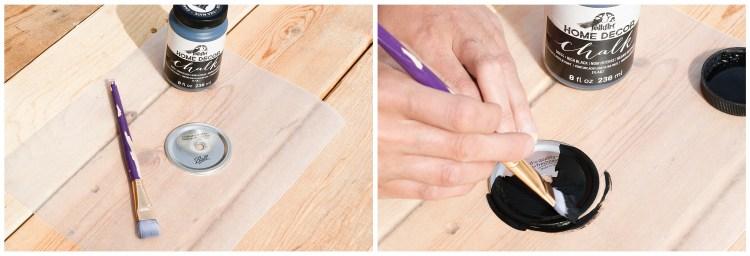 DIY Chalkboard Lids | Mason Jar Lids | Chalkboard Labels | DIY Gift Ideas | Mason Jar Crafts | Chalkboard Paint Crafts | Decorating Jar Lids | Gift Ideas | This easy #tutorial is on Six Clever Sisters. Find out how to make these diy chalkboard mason jar straw lids!