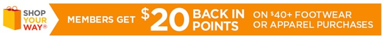 Sears Deal | $20 back in points | Shop Your Way Rewards | Save $$$ at Sears | Sears $20 back
