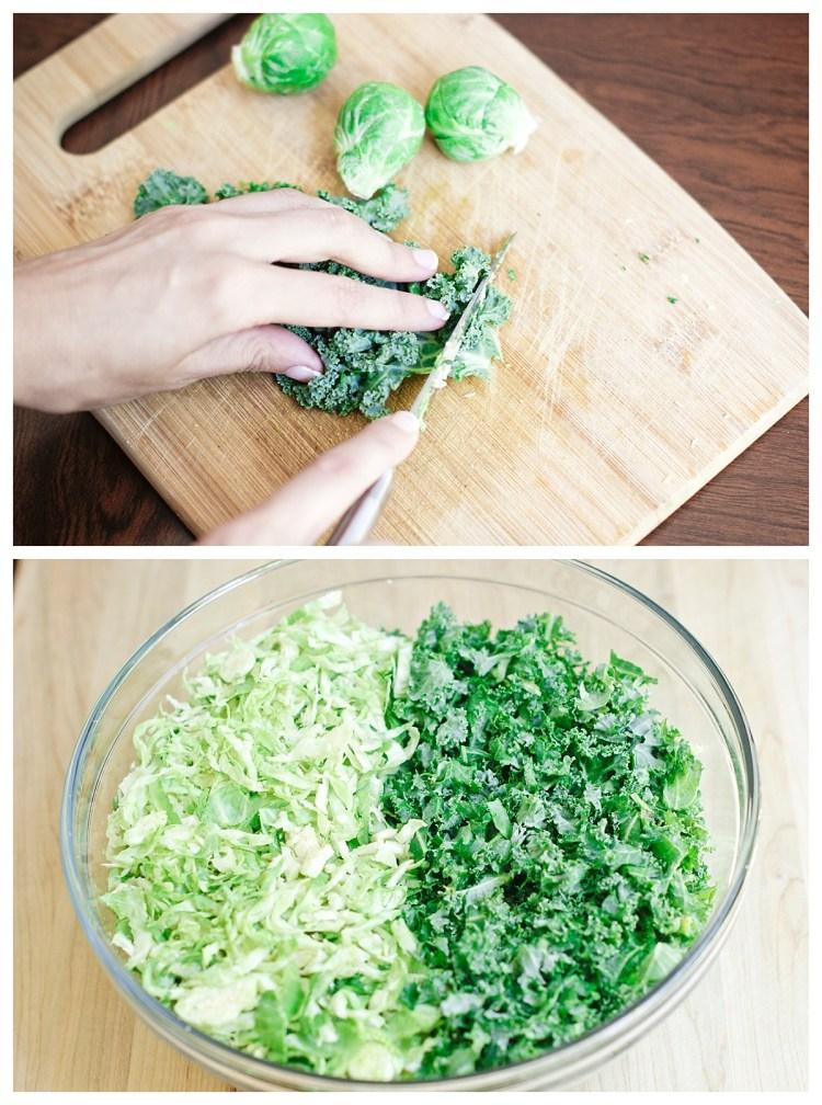 Cracker Barrel Copycat Brussel Sprouts n Kale Salad Recipe Vegan Healthy Salad Gluten free Pecans Craisins Maple Vinaigrette Six Clever Sisters