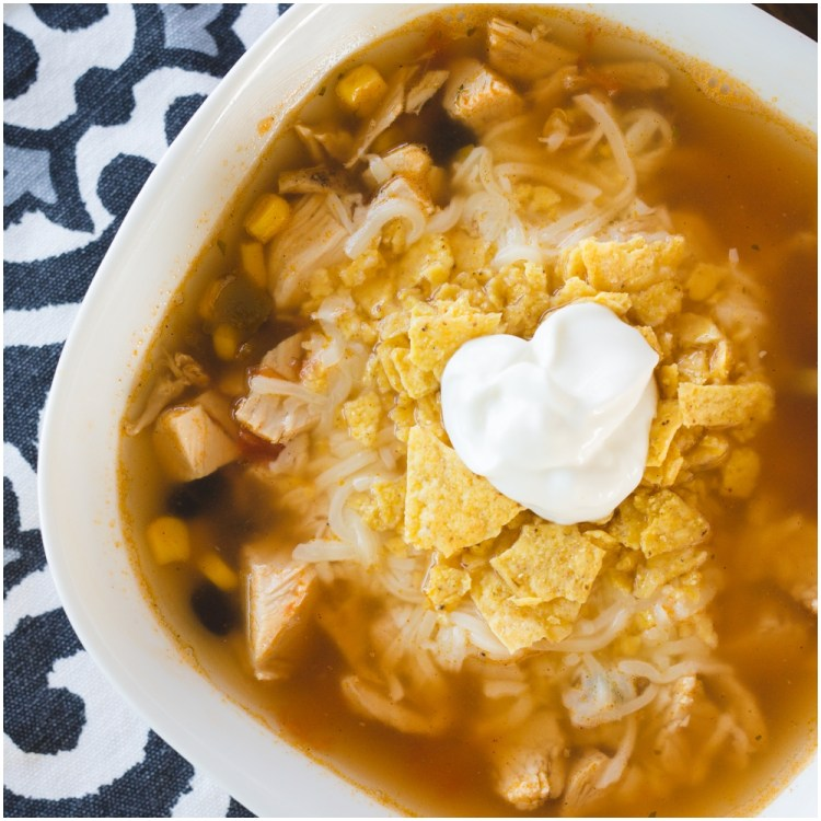 Chicken Taco Soup | Chicken Taco Soup Recipe | Chicken Taco Soup Easy | Taco Soup | 20-minute Soup Recipe | Easy Soup Recipe | Healthy Soup Recipe | Simple recipe for Chicken Taco Soup on the Six Clever Sisters blog!