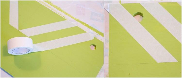 How to Paint Chevron Stripes | How to Paint Chevron | Chevron Design | Chevron Decor | Chevron Decor Ideas | Chevron Desk