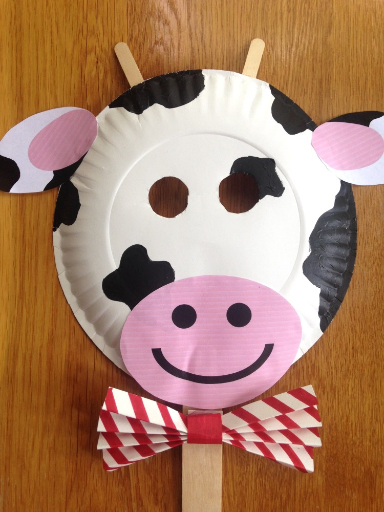 Chick Fil A Cow Day Paper Plate Cow Masks With Free Printables