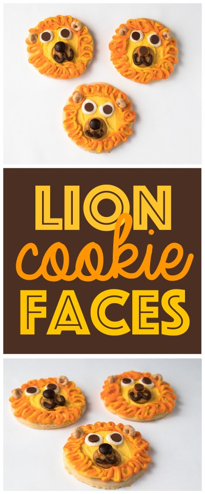Animal Face Cookies | Kid Snack Ideas | Animal Faces | Fun Food Idea | Lion Face | Kid Party Food | Six Clever Sisters