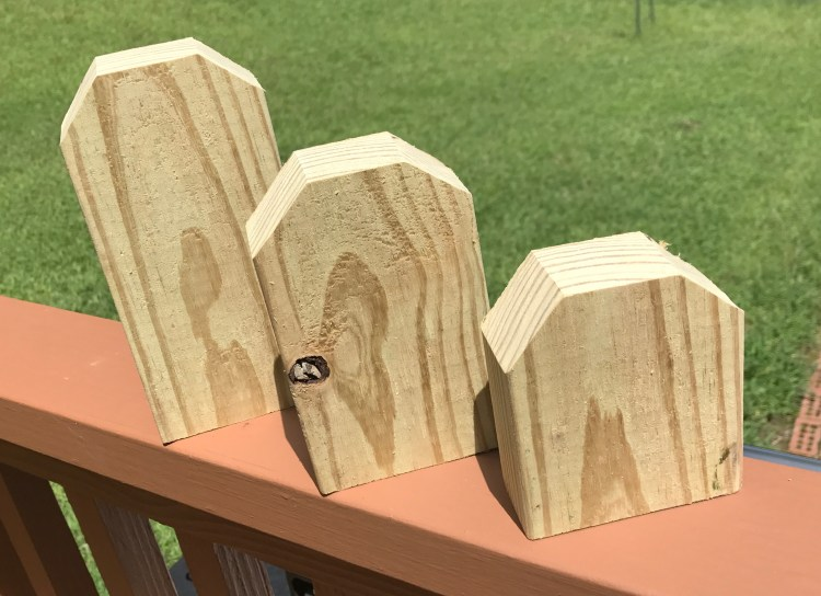 Chic-Rustic Pumpkin | Wood Pumpkin | Fall Decor | DIY Fall | Autumn | Fall Decor Ideas | DIY Pumpkin Decor | DIY Pumpkins | Shabby Chic | Farmhouse | Rustic | Home Decor | Home Decorating | Pumpkin Craft | Cream and Gold | Harvest | Wood | DIY Wood | Chic | Easy DIY Decor | Six Clever Sisters